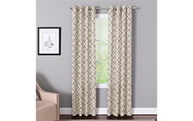 Bryony 50'' x 63'' Taupe Curtain Panel