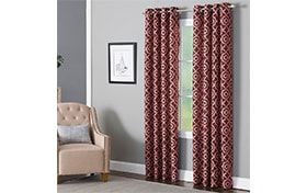 Bryony 50'' x 95'' Brick Curtain Panel