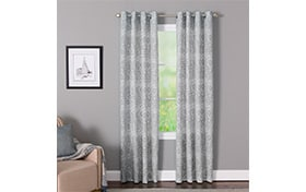 Kaiya 50'' x 84'' Gray Curtain Panel