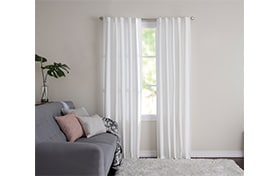Wallace 42'' x 84'' Ivory Curtain Panel