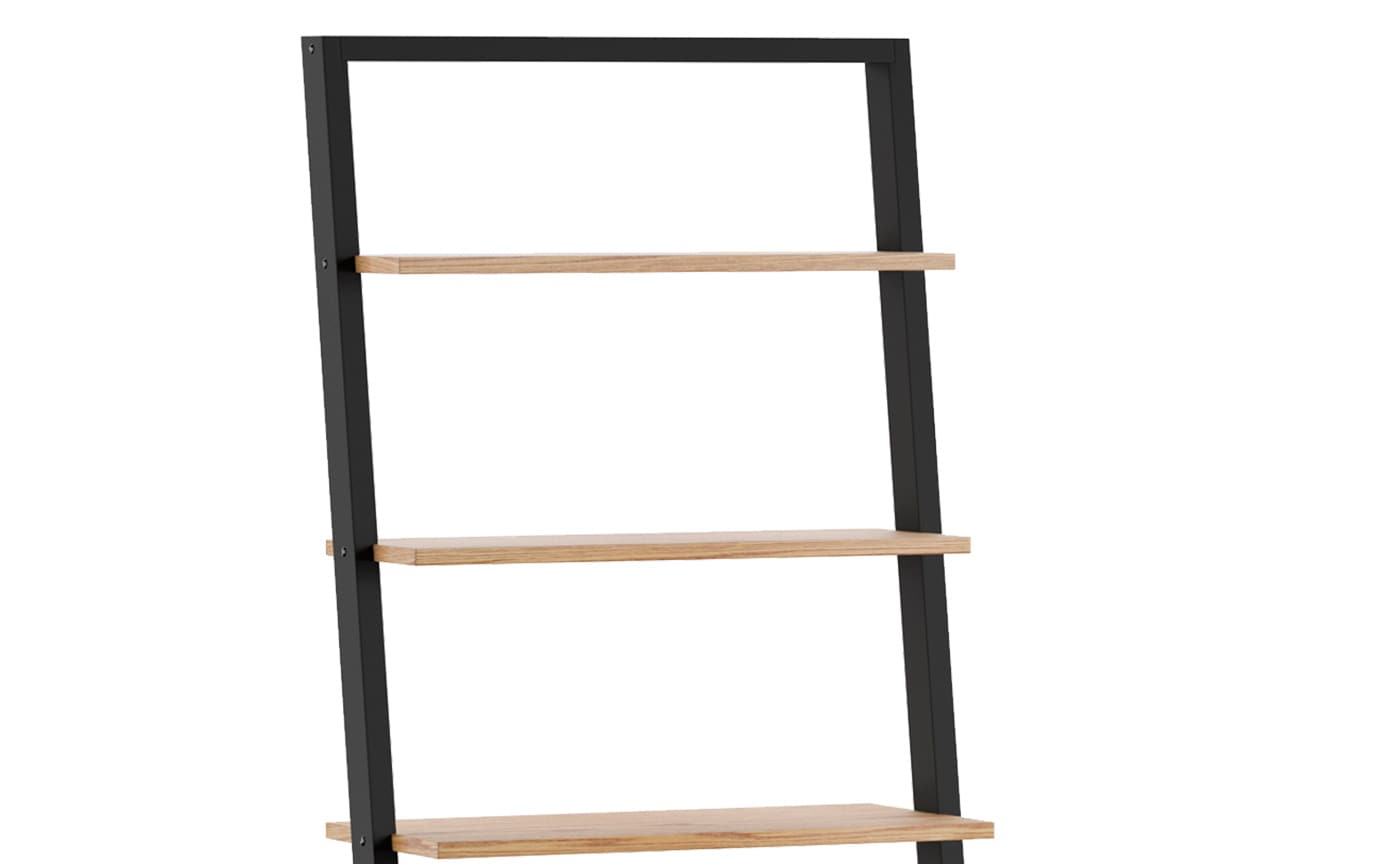 Finch Black Ladder Bookcase