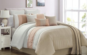 Goulding Beige 10 Piece King Comforter Set