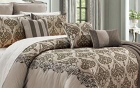 Garcia Bronze 14 Piece Queen Comforter Set