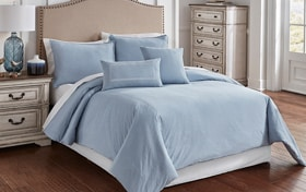 Tillman Blue 6 Piece King Comforter Cover Set