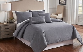 Tillman Charcoal 6 Piece King Comforter Cover Set
