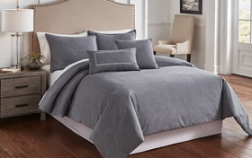 Tillman Charcoal 6 Piece Queen Comforter Cover Set