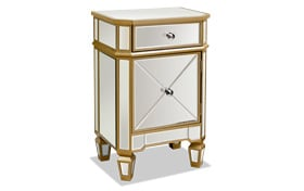 Shania Gold Mirrored Cabinet Chest