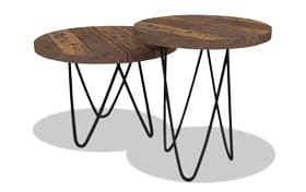 Set of 2 Rhea Brown Nesting Tables