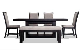 Cosmopolitan 6 Piece Dining Set with Bench