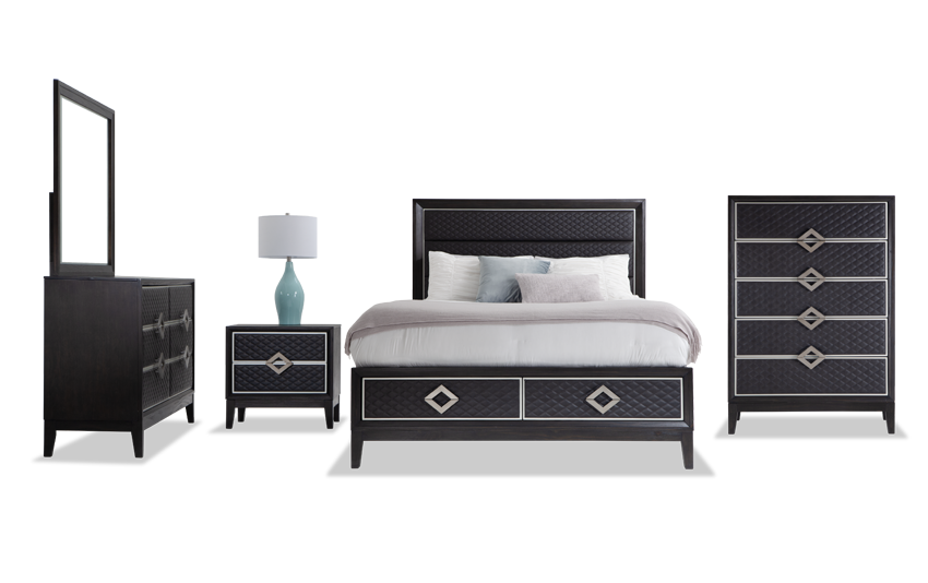 Rio King Storage Bedroom Set