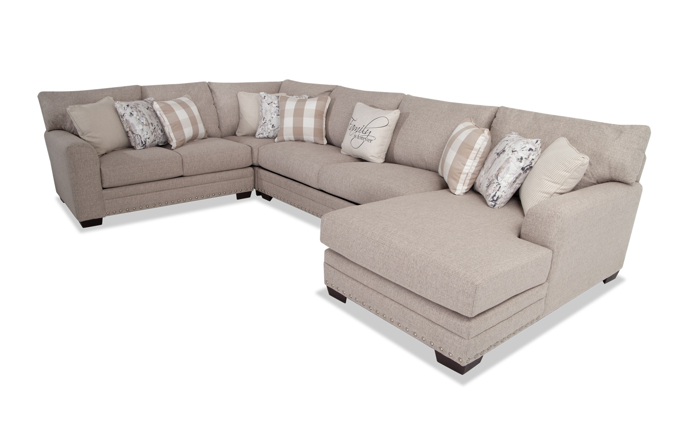 Cottage Chic 4 Piece Left Arm Facing Sectional