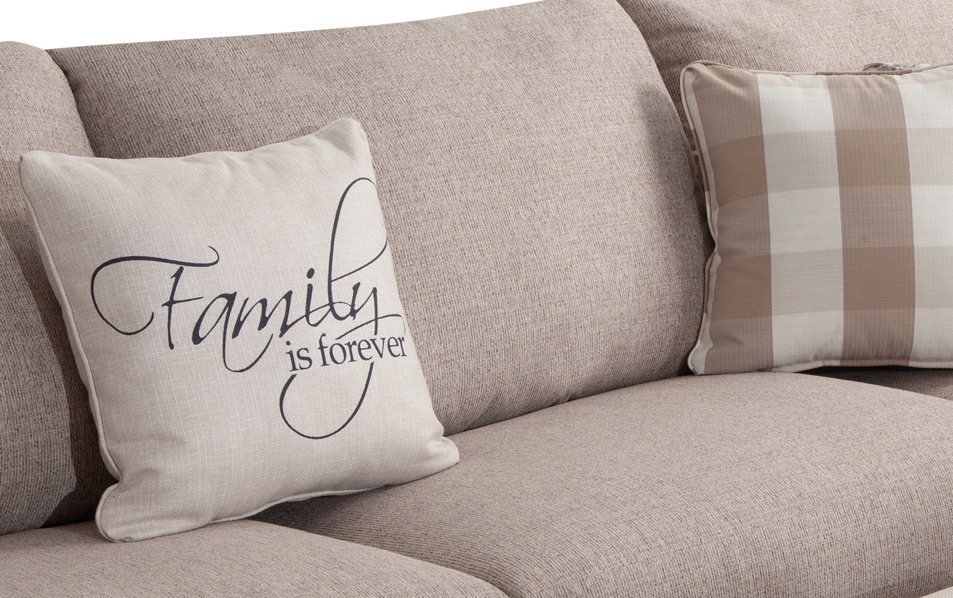 Cottage Chic 4 Piece Right Arm Facing Sectional