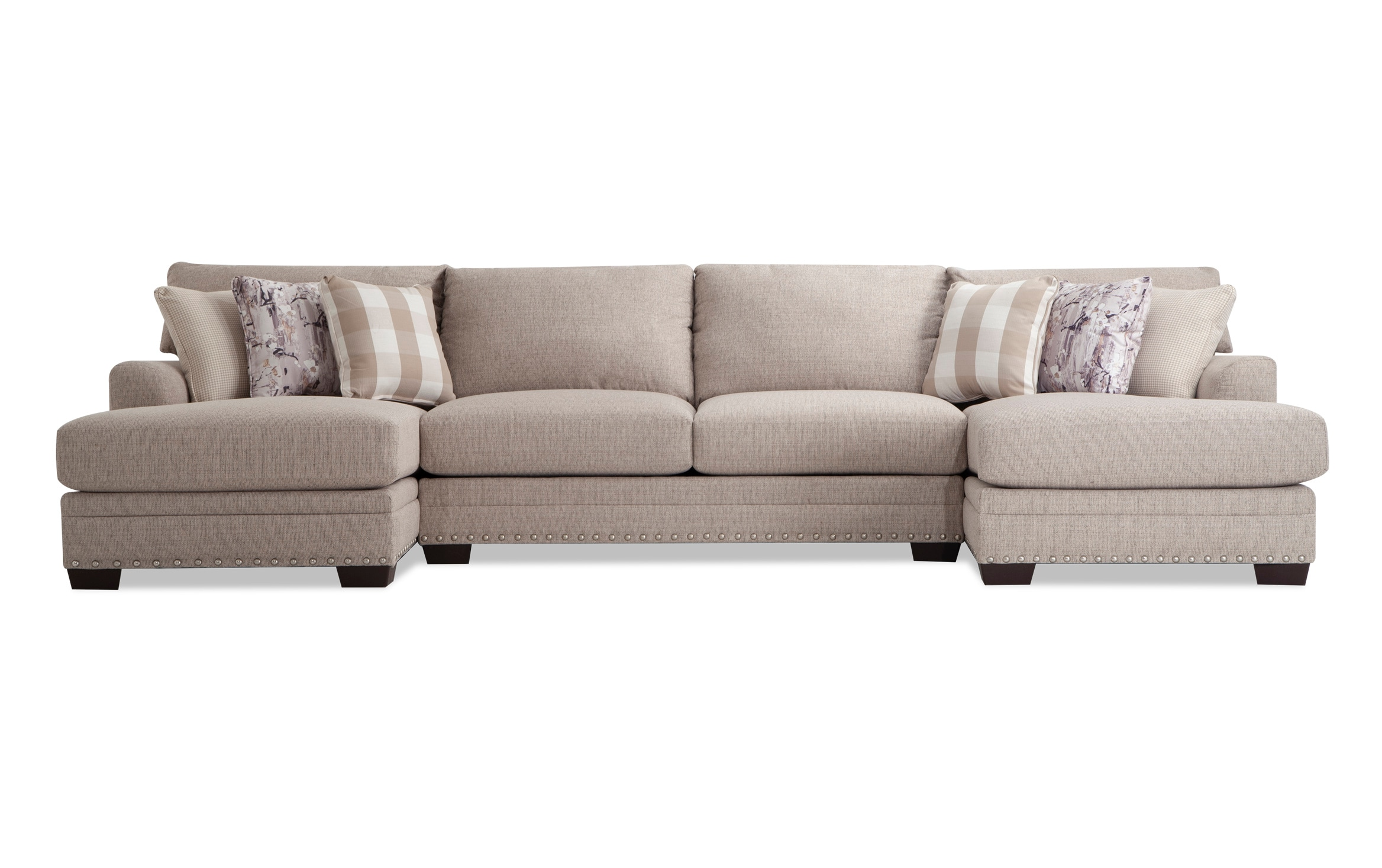 Cottage Chic 3 Piece Sectional   Bob's Discount Furniture