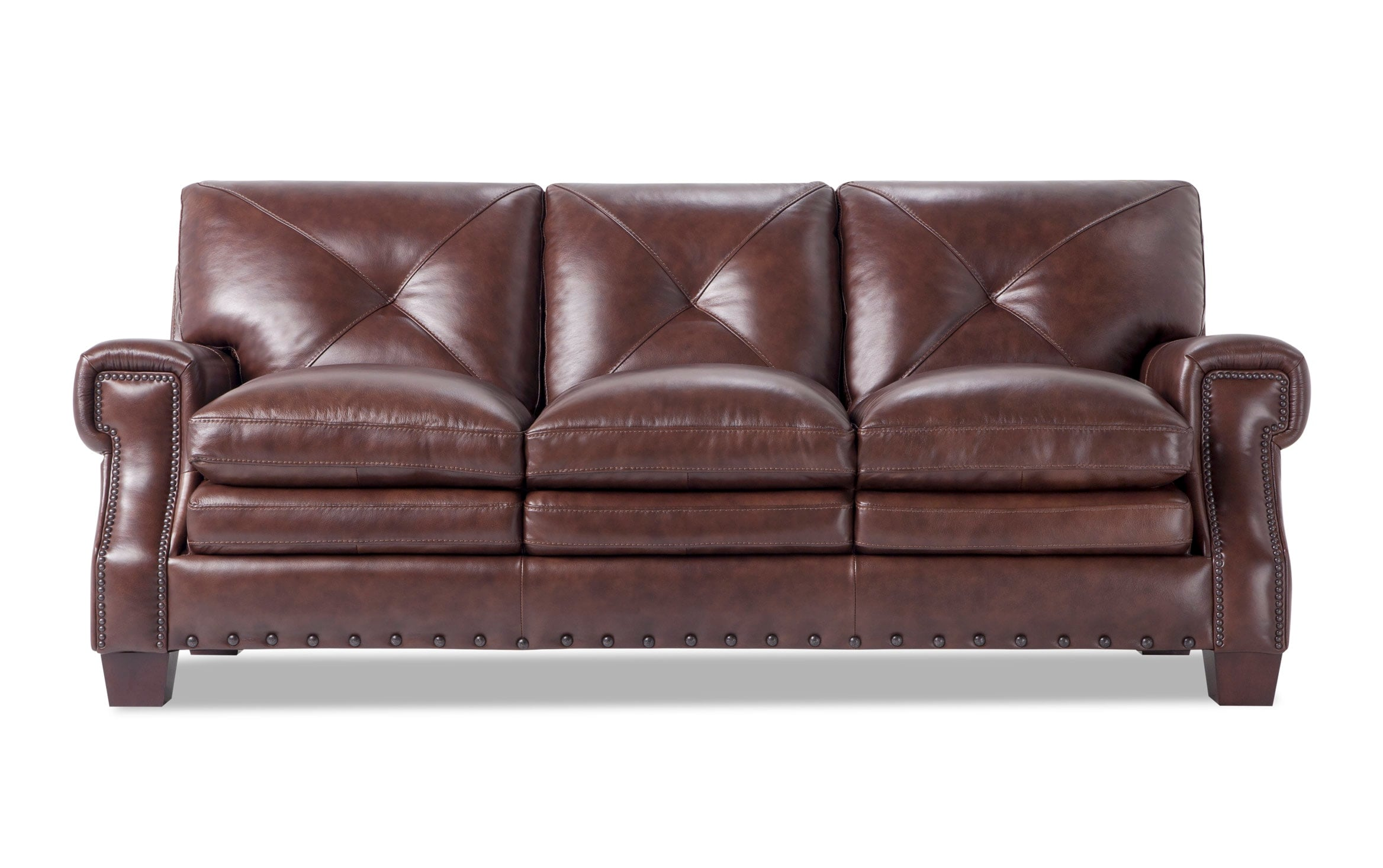 Kennedy Brown Leather Sofa Outlet