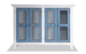 Miramar Blue & White Accent Cabinet