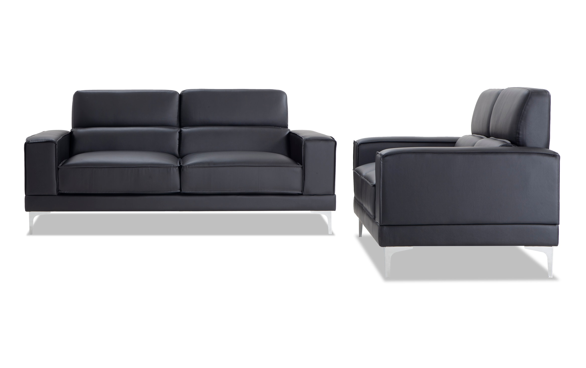 Galactic Black Sofa Loveseat Outlet
