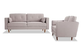 Easy Living Taupe Sofa & Loveseat