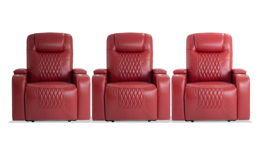 Showtime 3 Piece Home Theater Power Recliner Set