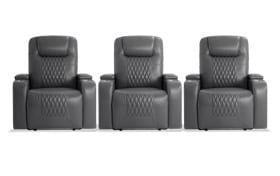 Showtime Gray 3 Piece Home Theater Power Recliner Set