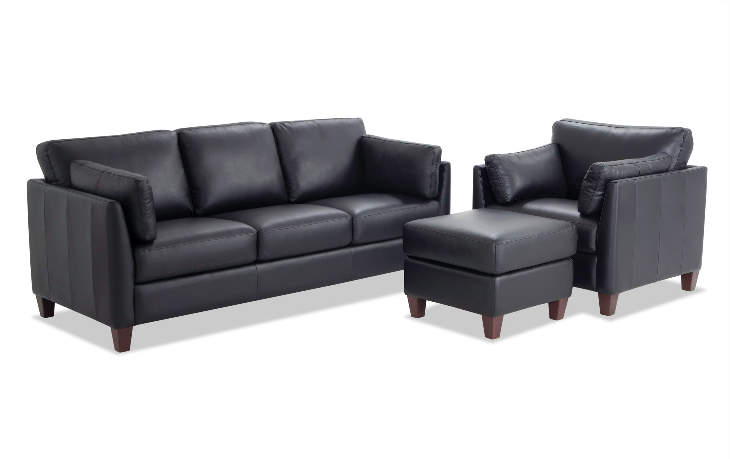 Antonio Black Leather Sofa Chair
