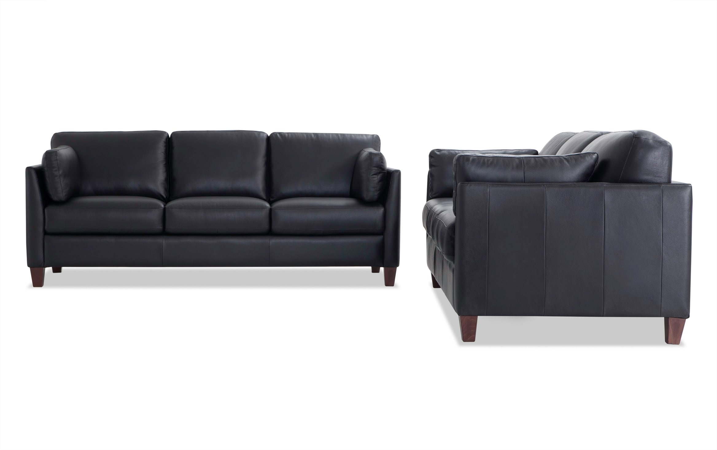 Antonio Black Leather Sofa Set Bobs