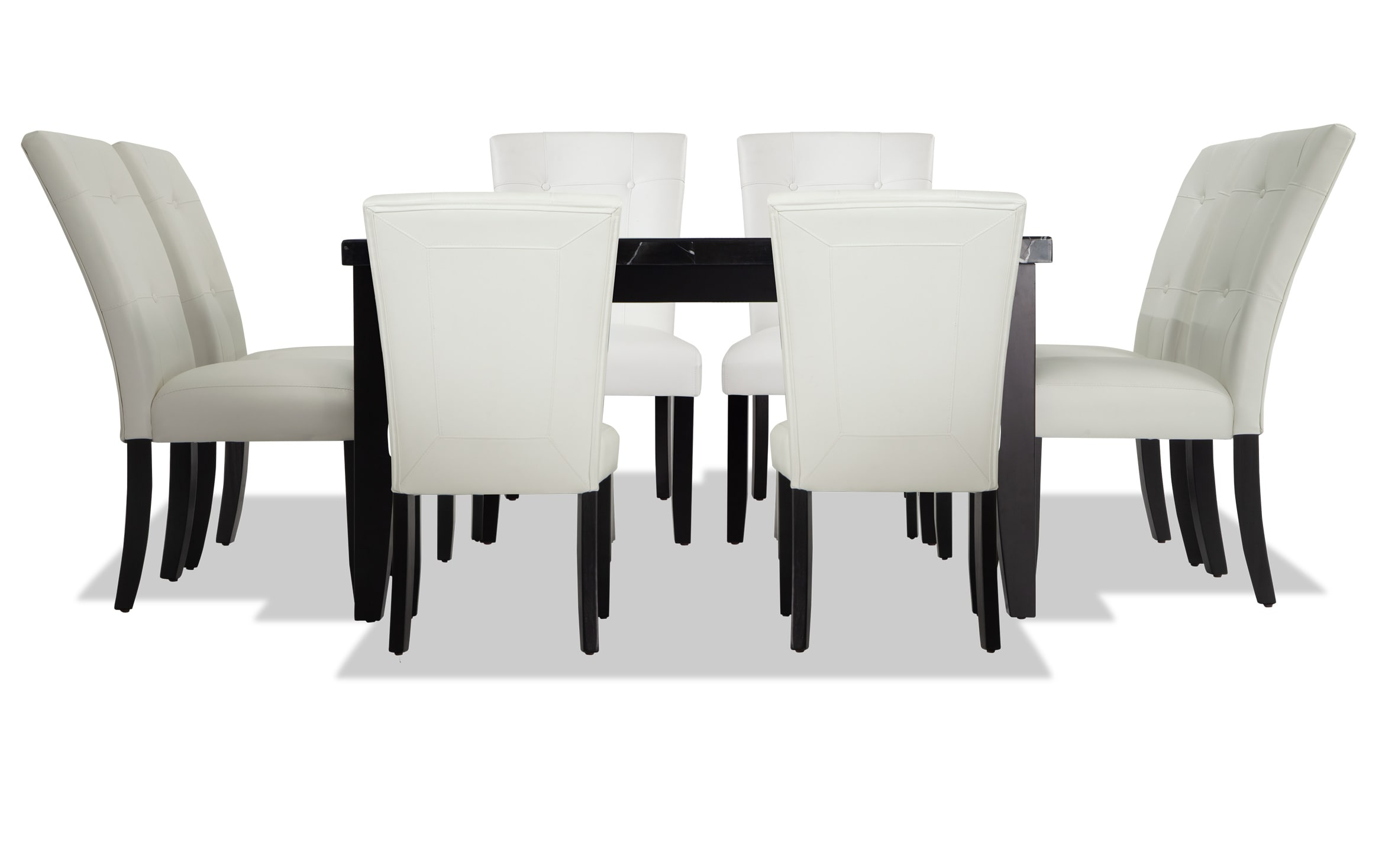Montibello Black Marble 54 X 54 9 Piece Dining Set Bobs Com