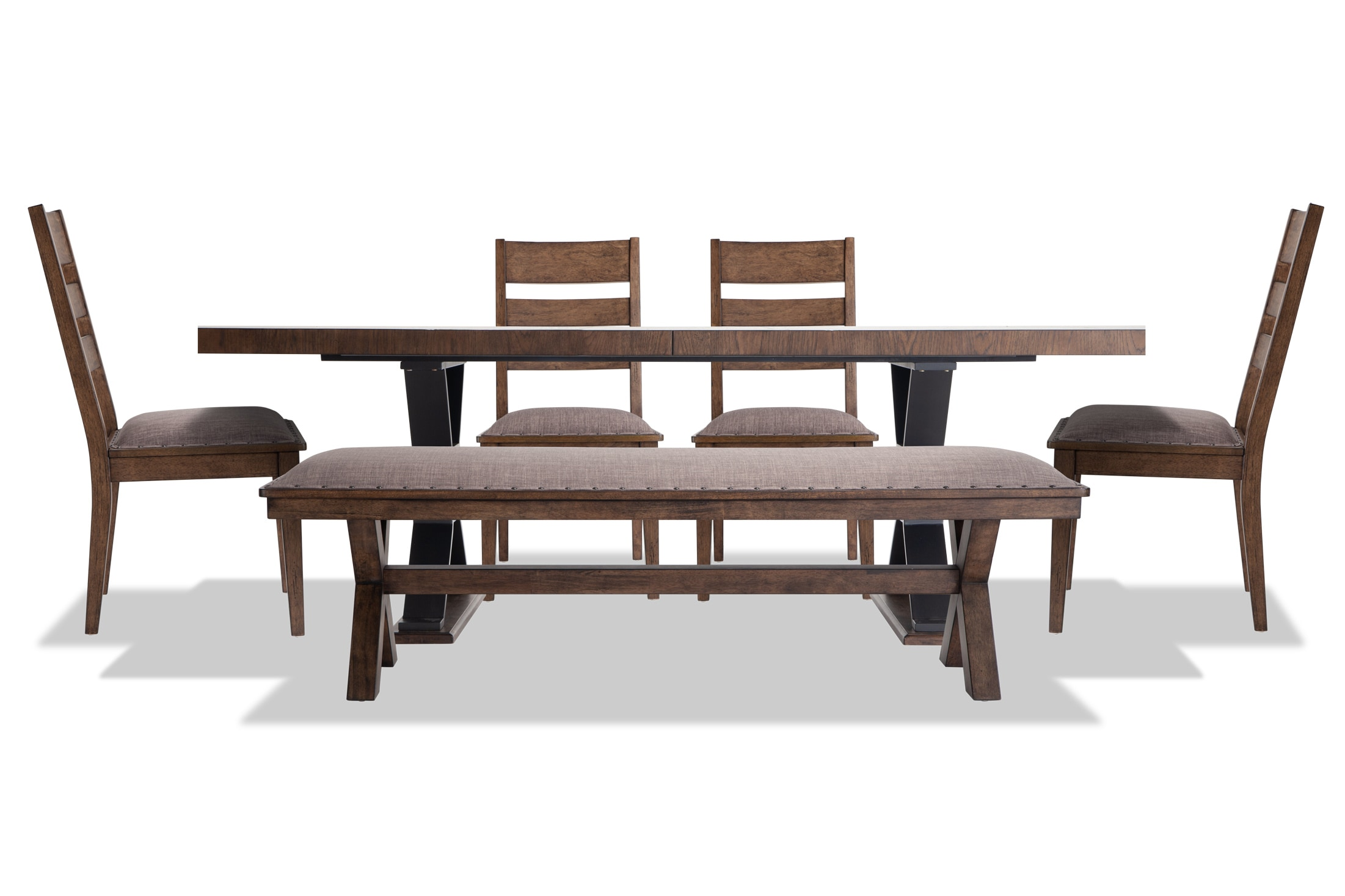 Lennox 6 Piece Dining Set With Bench Ladder Back Chairs Bobs Com