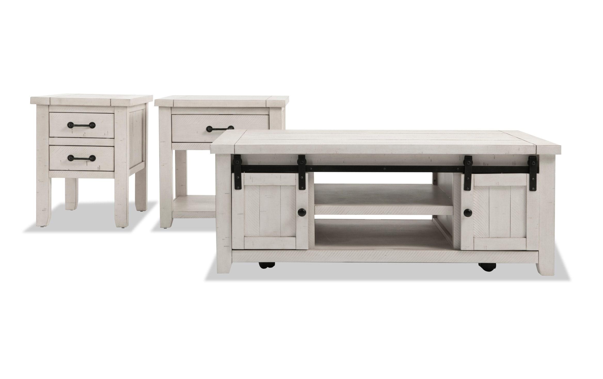 - Montana White Coffee Table Set Bobs.com