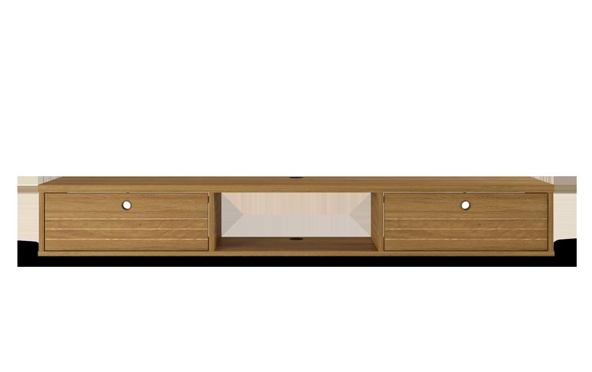 Shiloh Oak Floating TV Stand