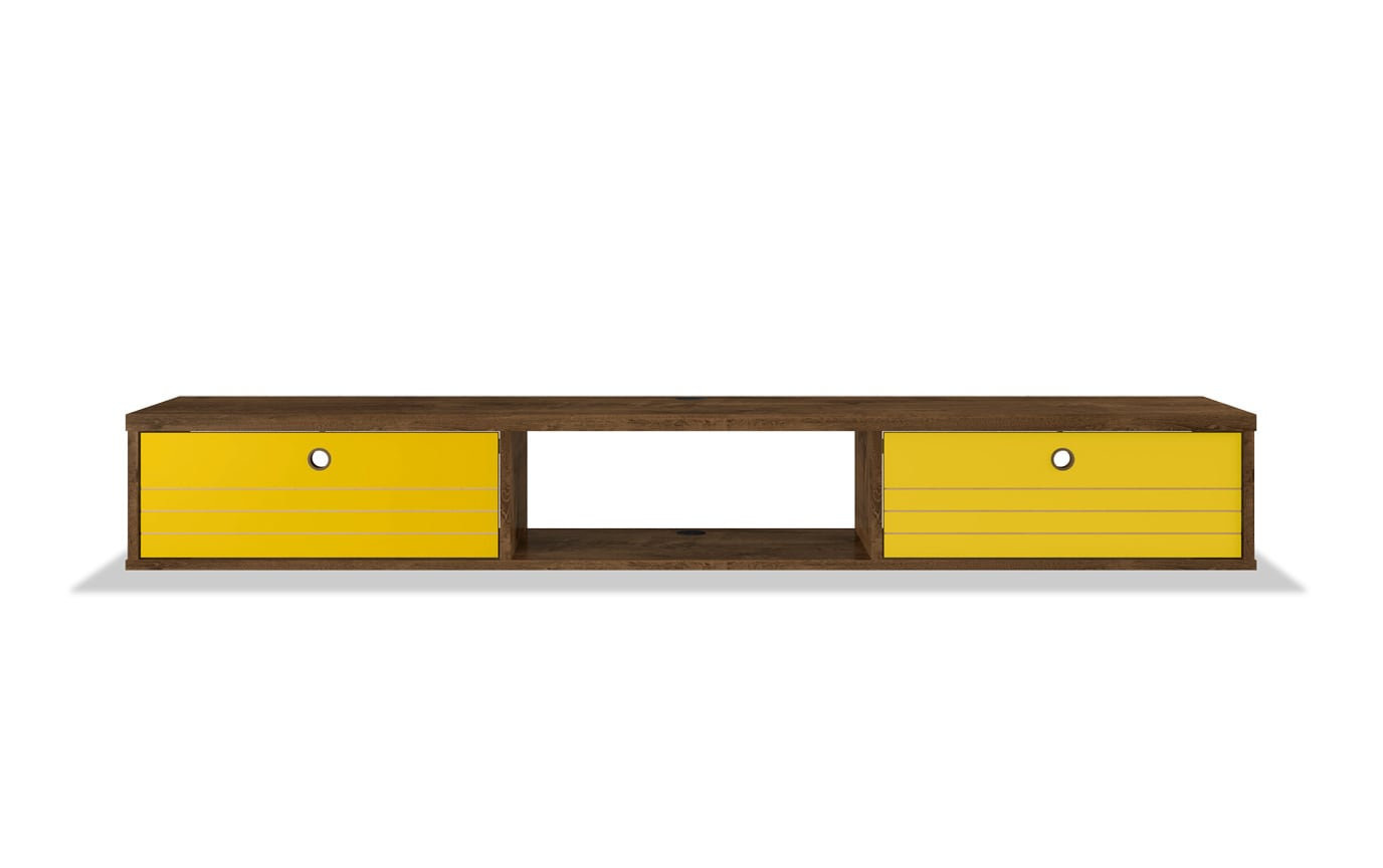 Rubio Brown & Yellow Floating Desk
