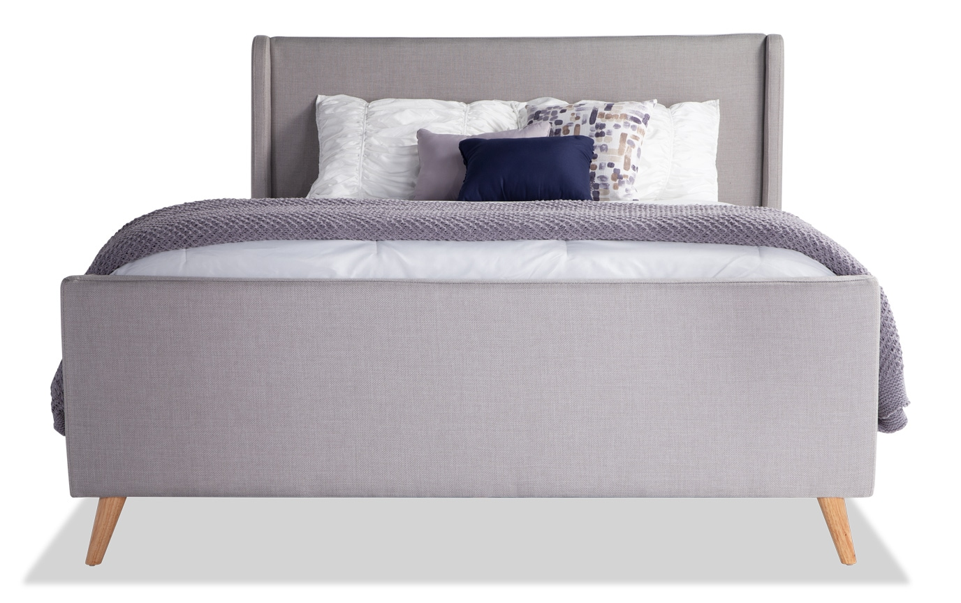 Copenhagen Full Light Gray Upholstered Bedroom Set