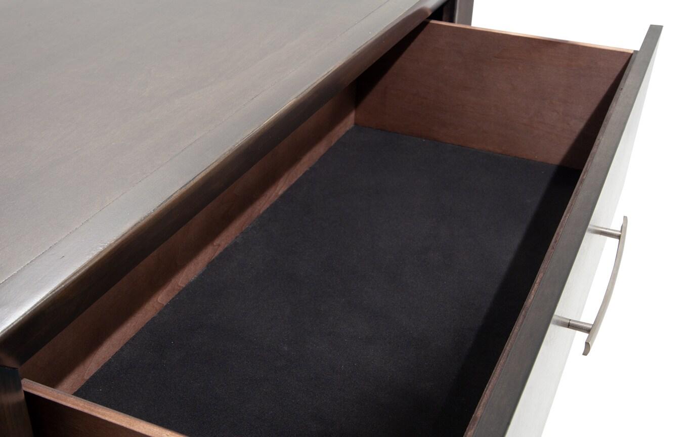 Copenhagen Queen Onyx Upholstered Bedroom Set