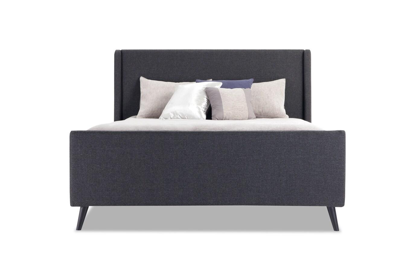 Copenhagen Twin Onyx Upholstered Bedroom Set
