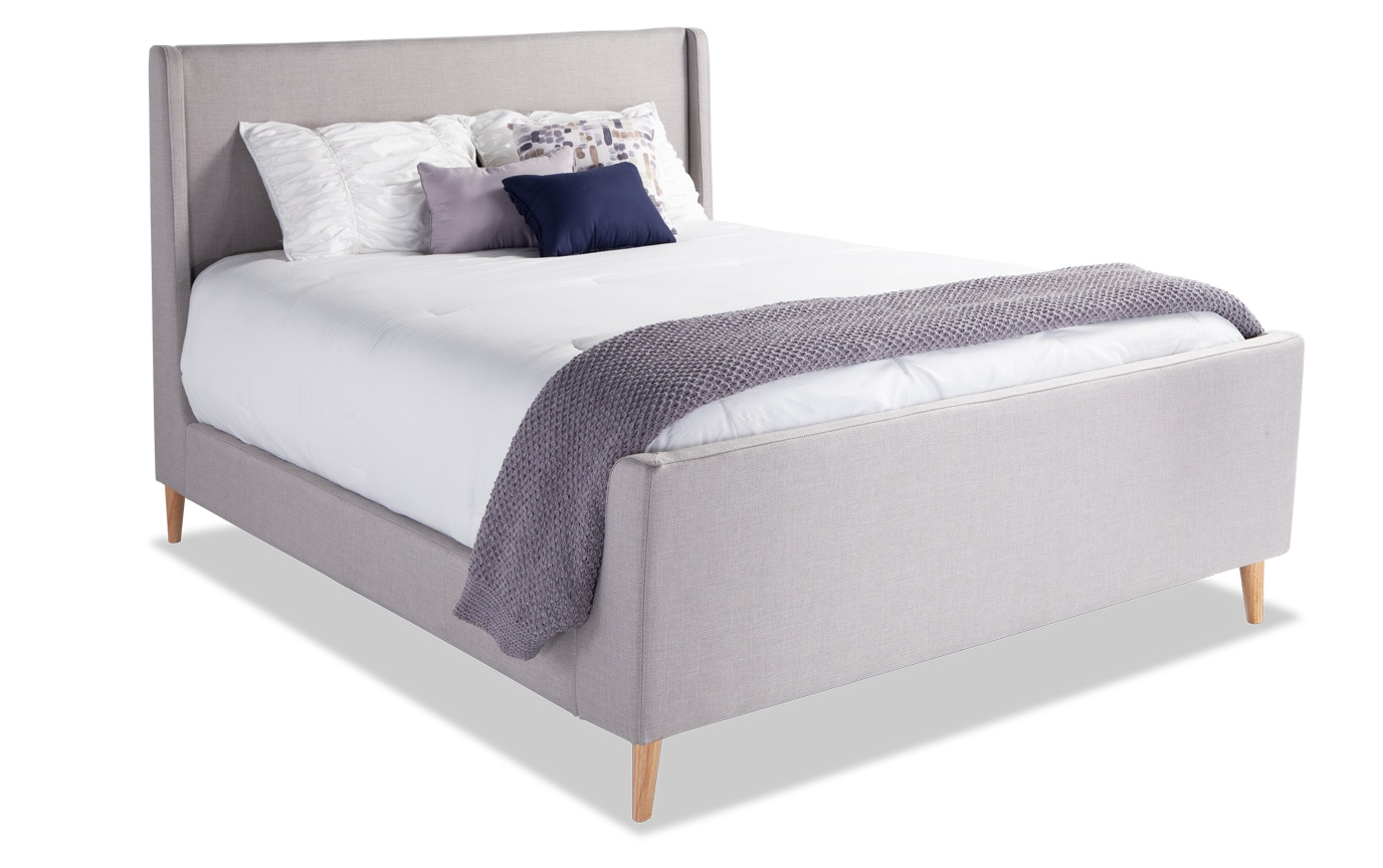 Copenhagen Twin Light Gray Upholstered Bedroom Set