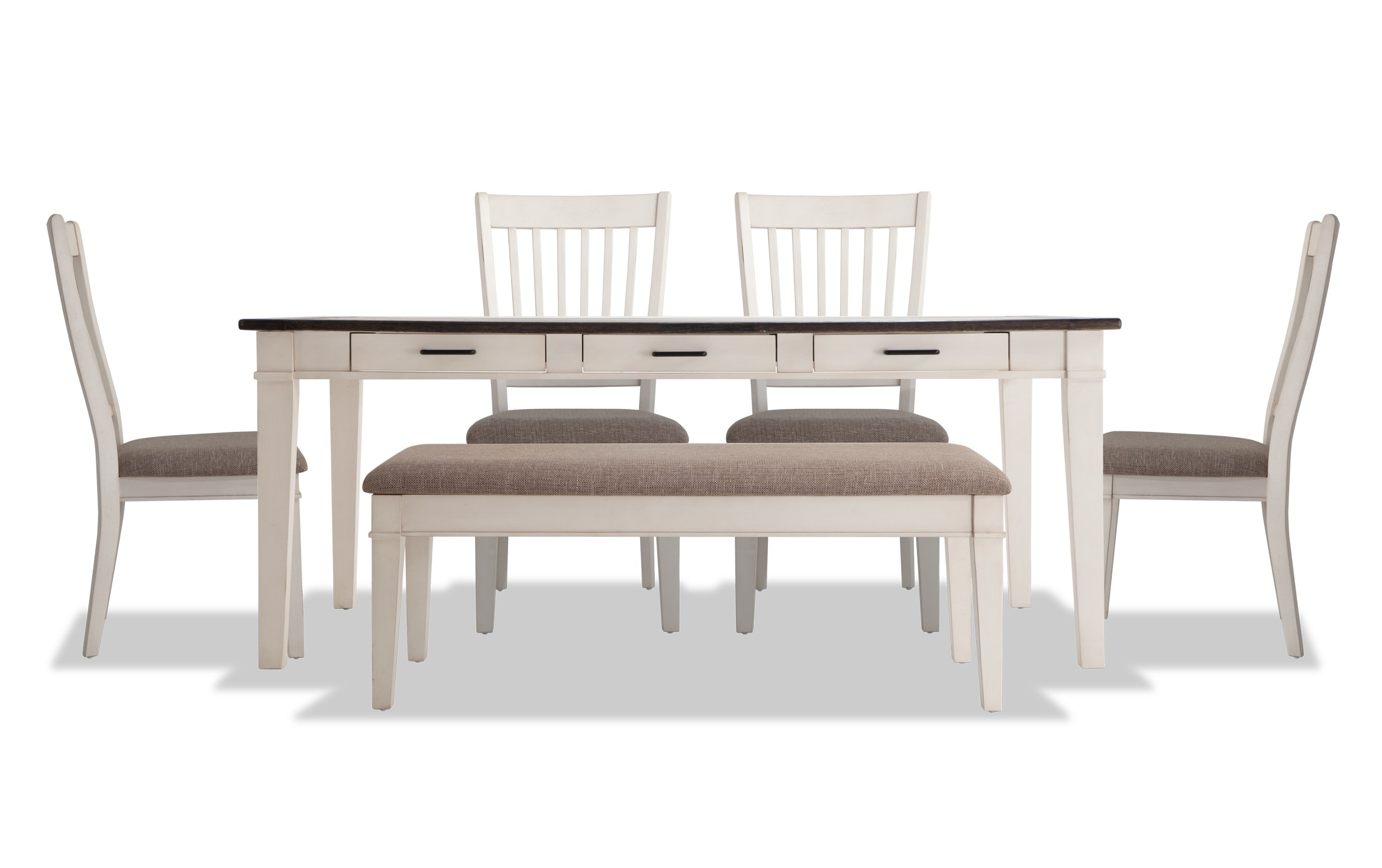 Montana 6 Piece Dining Set With Storage, Bobs Furniture Dining Room