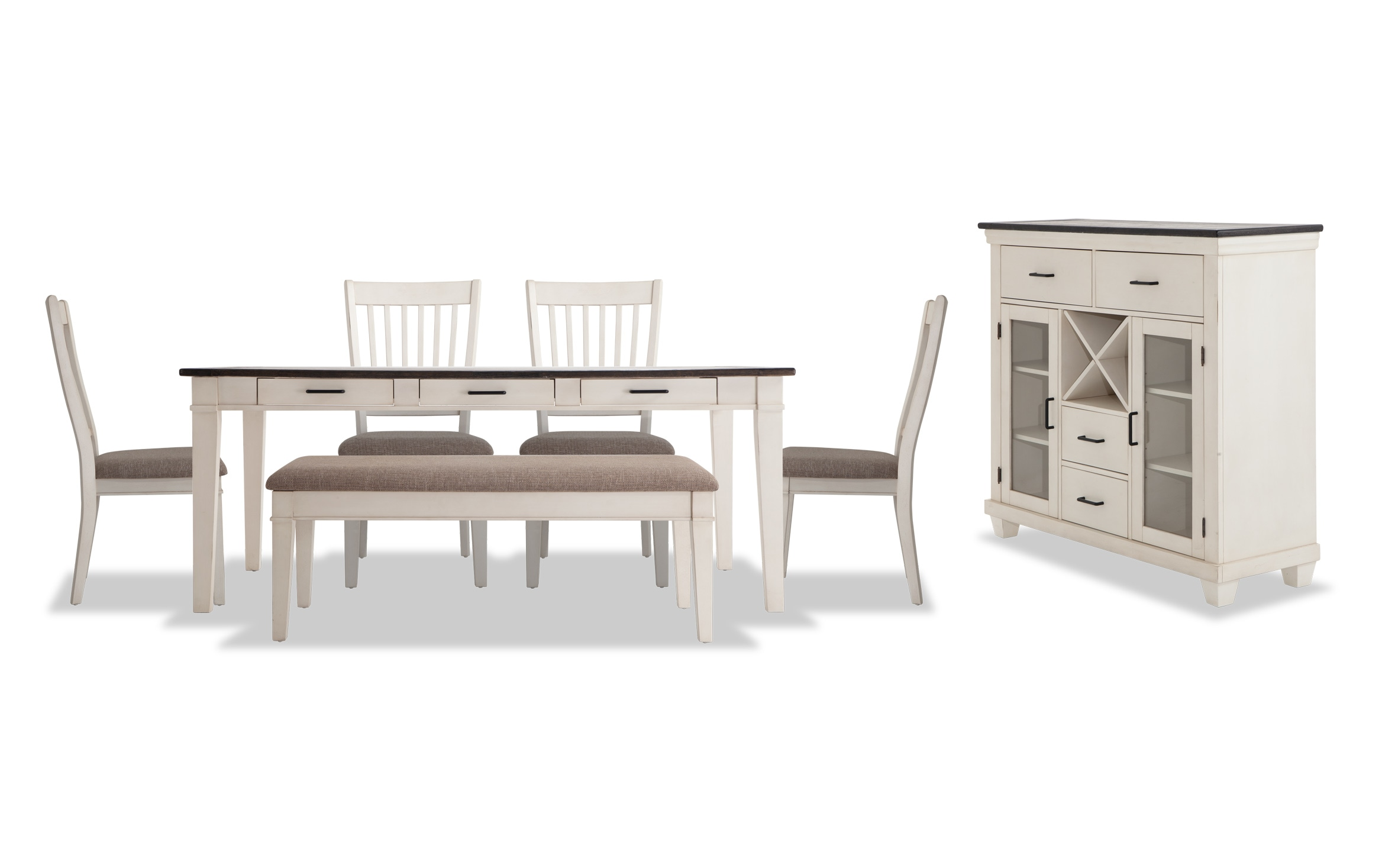 Montana 9 Piece Dining Set with Storage Bench and Server