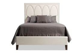 Juliette Queen White Upholstered Bed