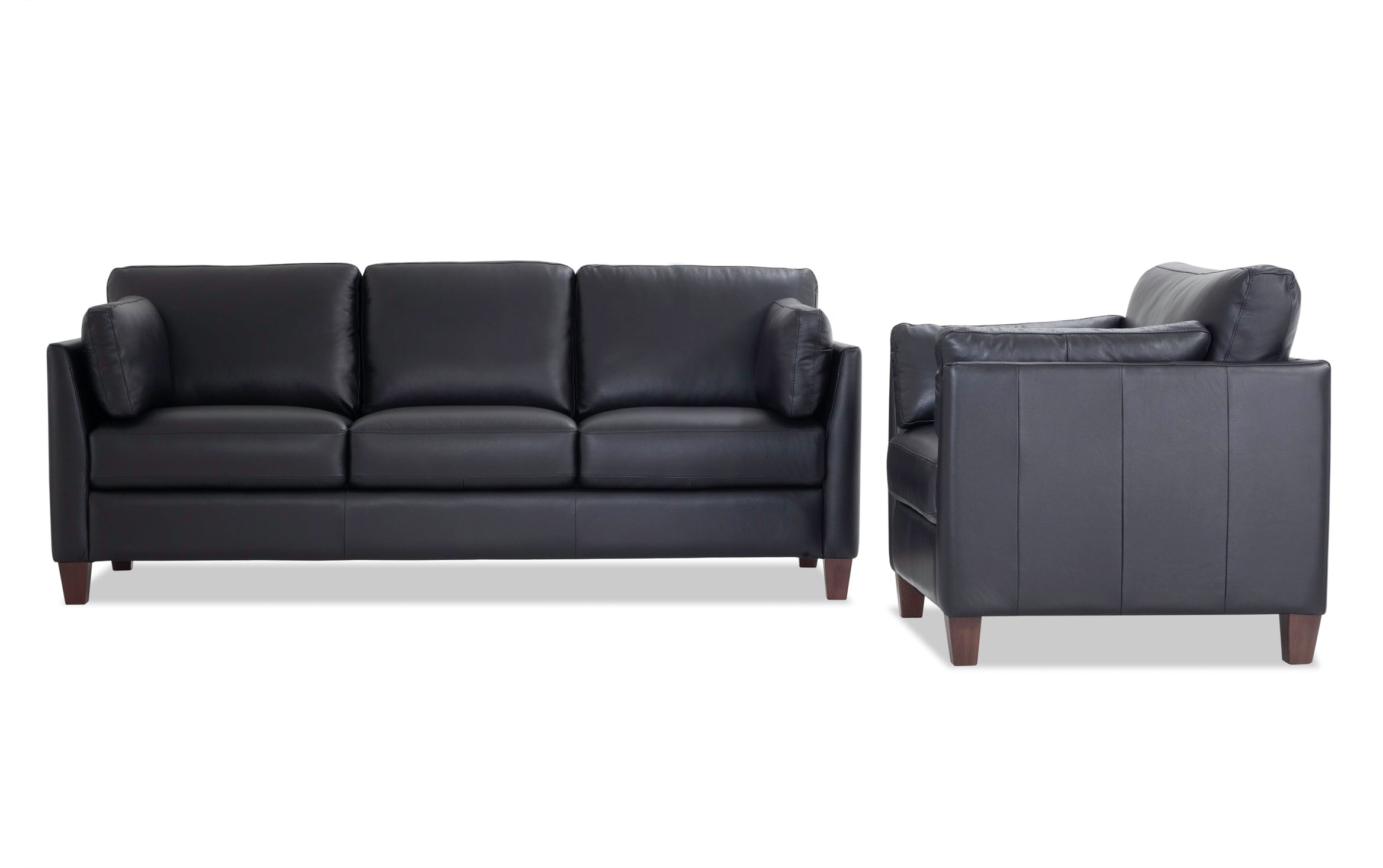 - Antonio Black Leather Sofa & Chair Bobs.com