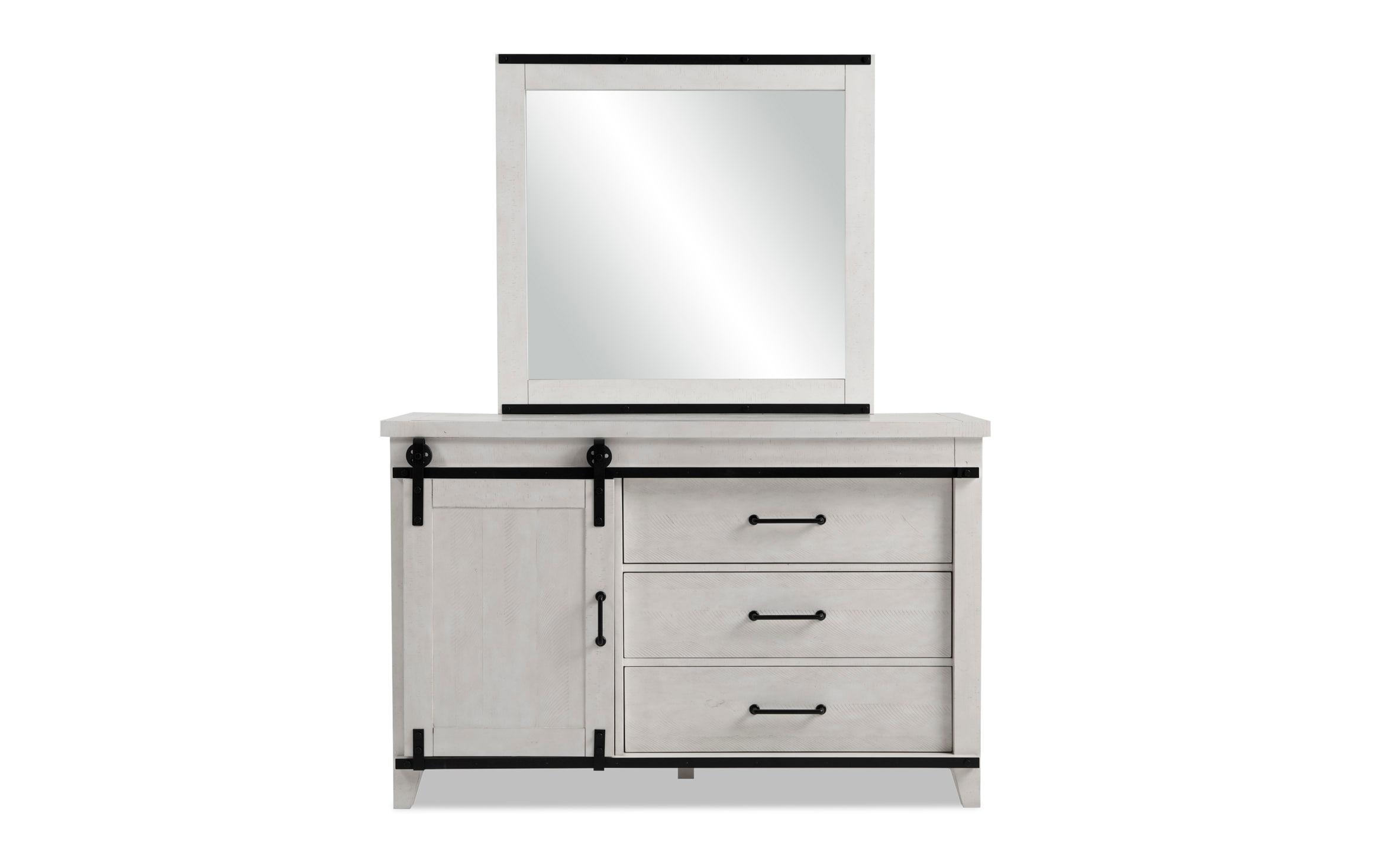 Montana Youth White Dresser Mirror