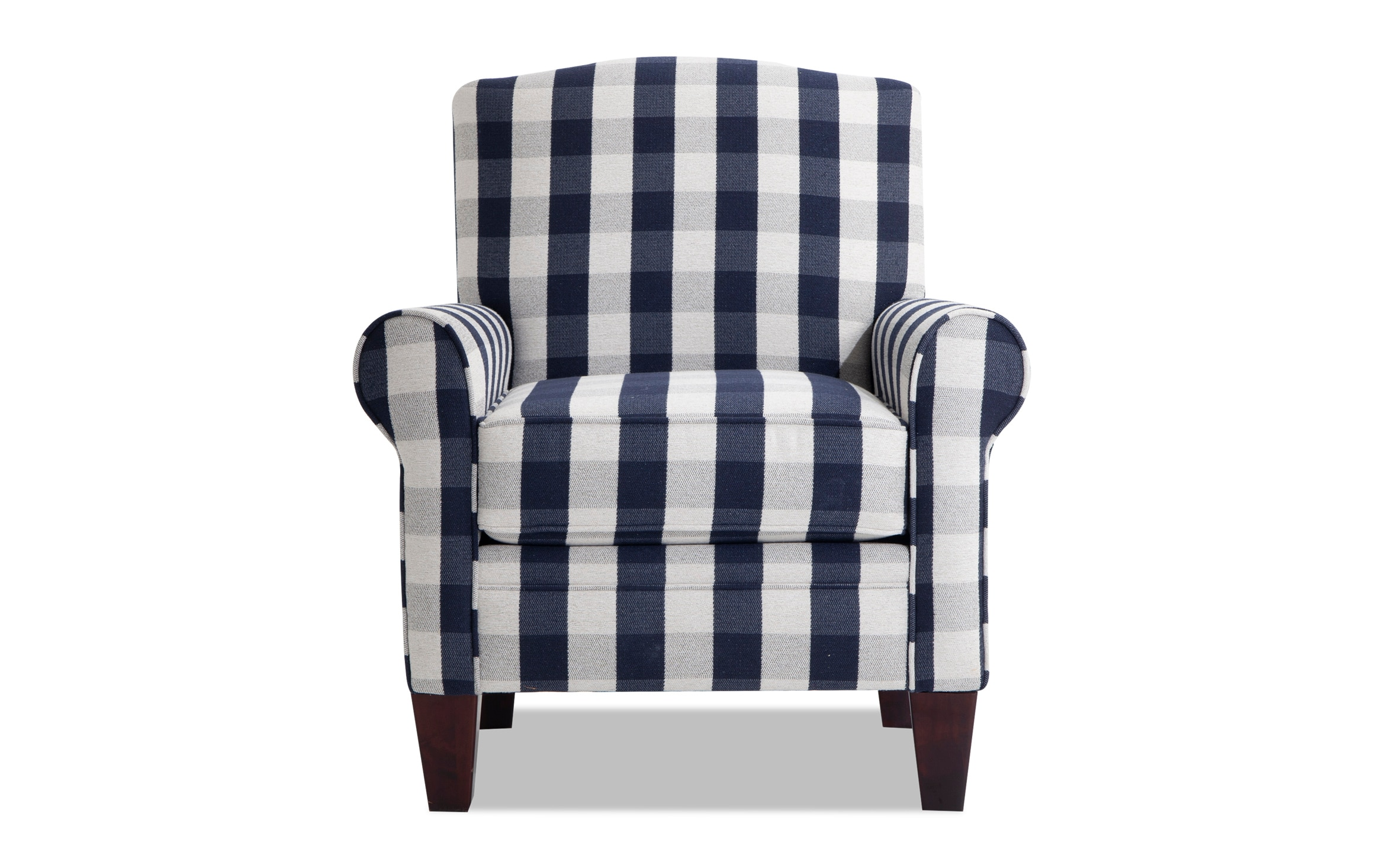 Picture of: Cottage Chic Navy Plaid Accent Chair Bobs Com