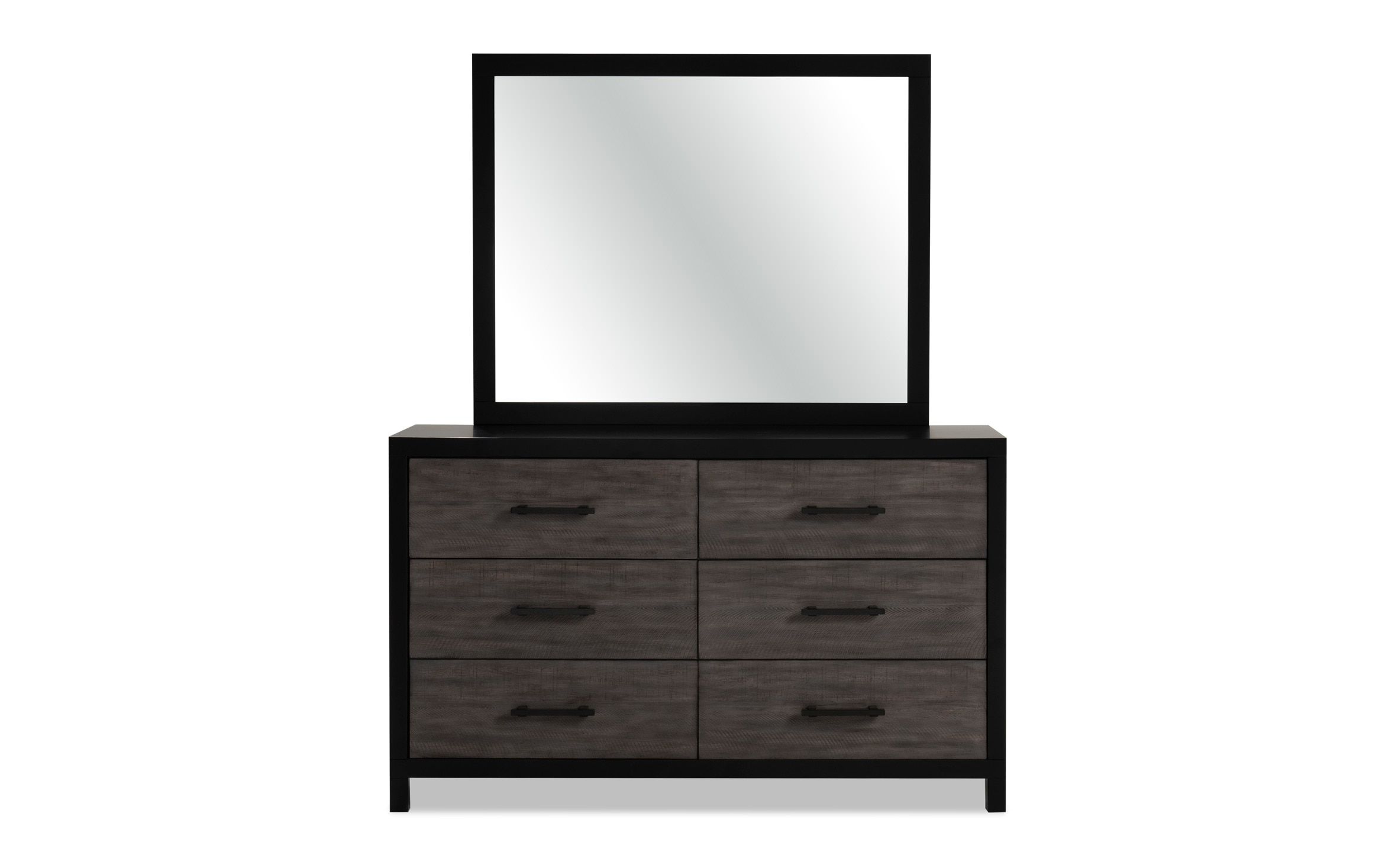 Fusion Black Gray Dresser Mirror