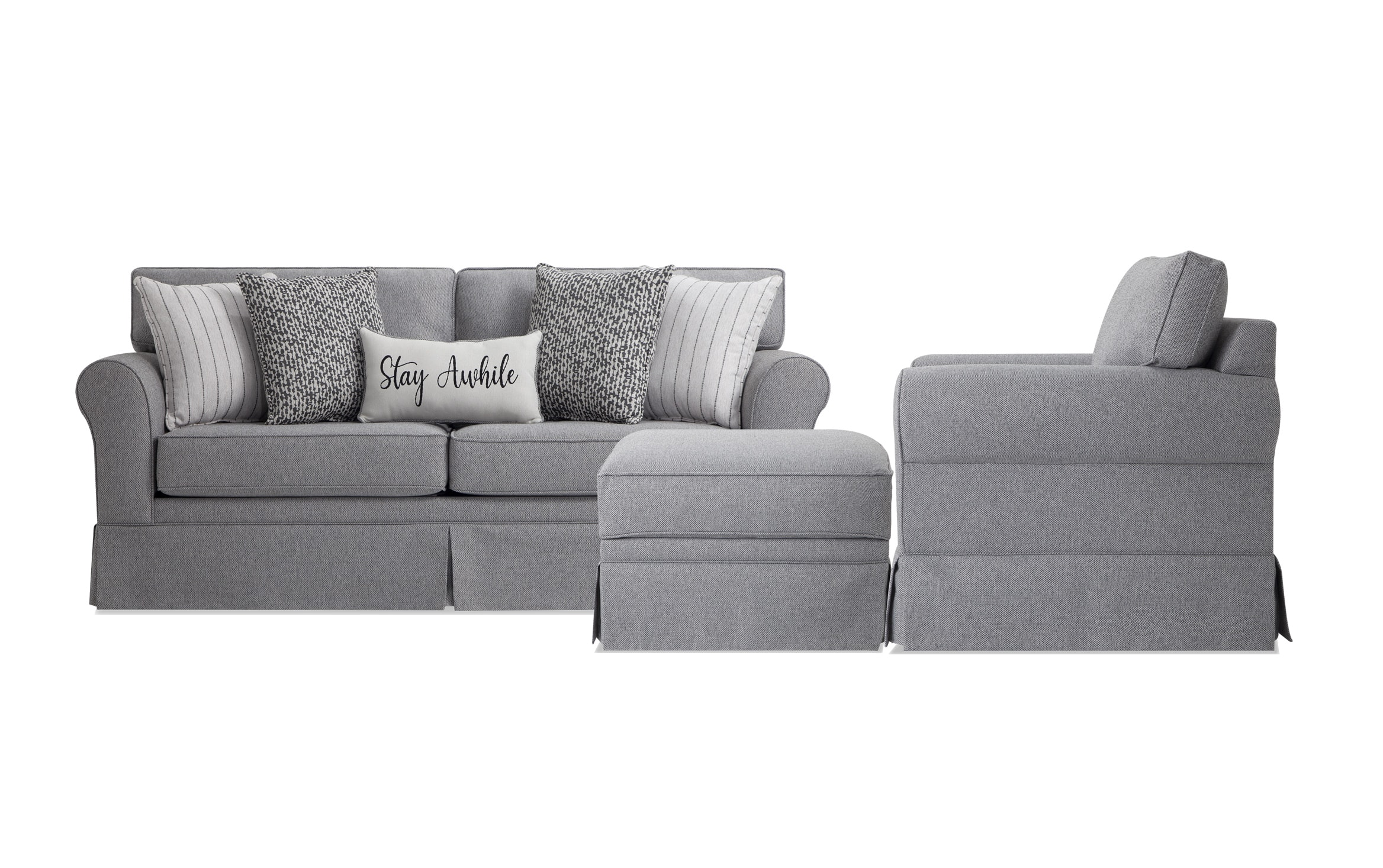 Laurel Gray Sofa Chair Storage