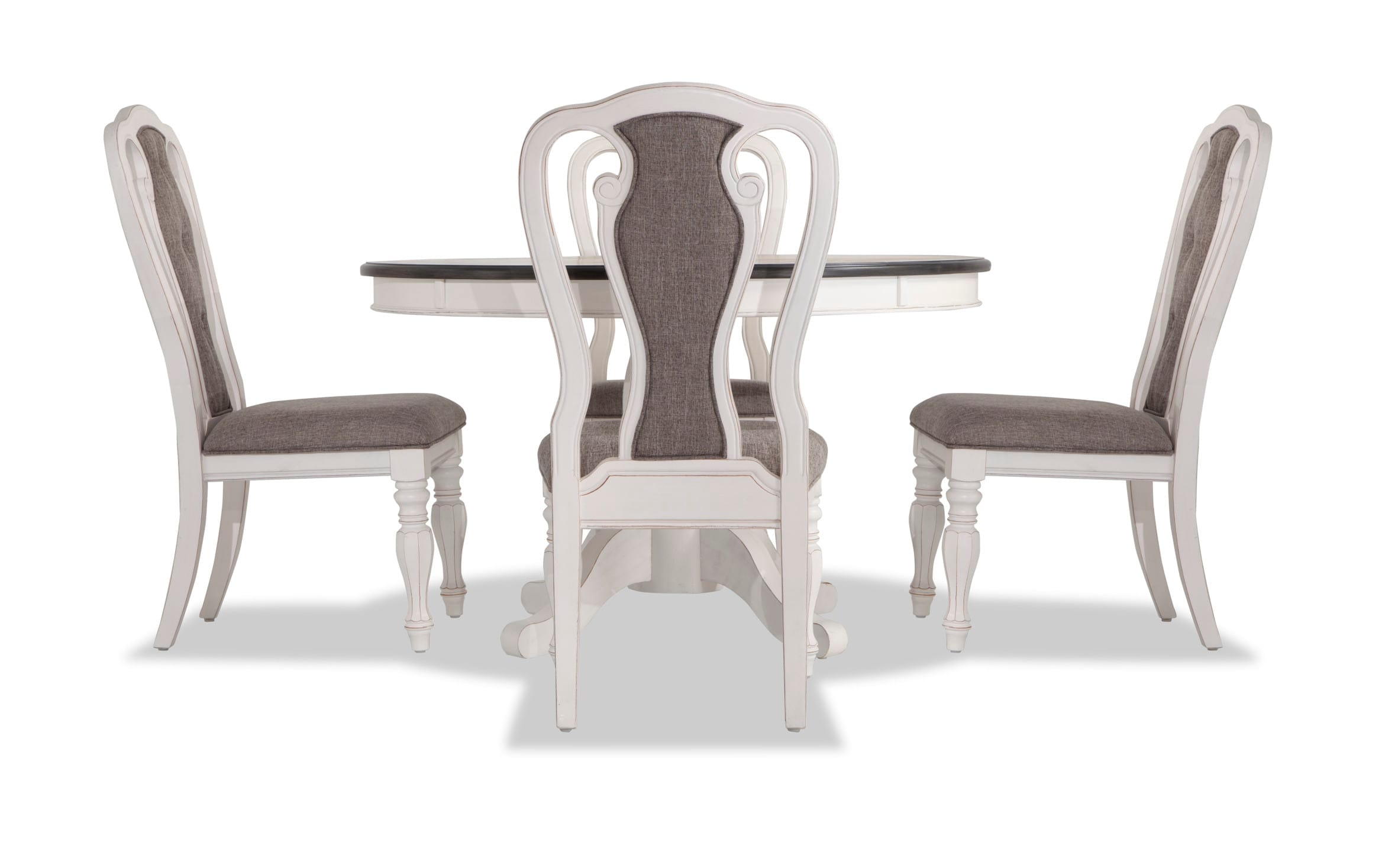 Scarlett Round 5 Piece Dining Set With Splat Back Side Chairs Bobs Com