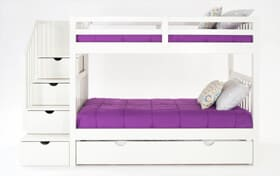 Keystone White Stairway Bunk Bed With 2 Twin Perfection