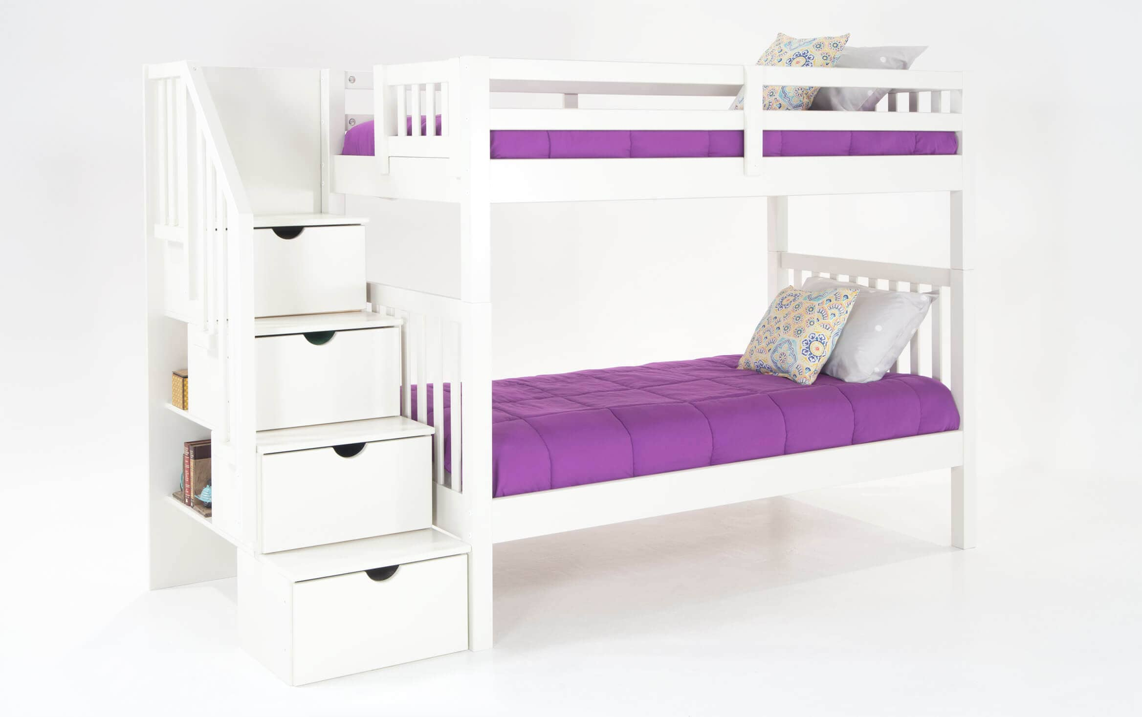 Keystone White Stairway Bunk Bed With 2