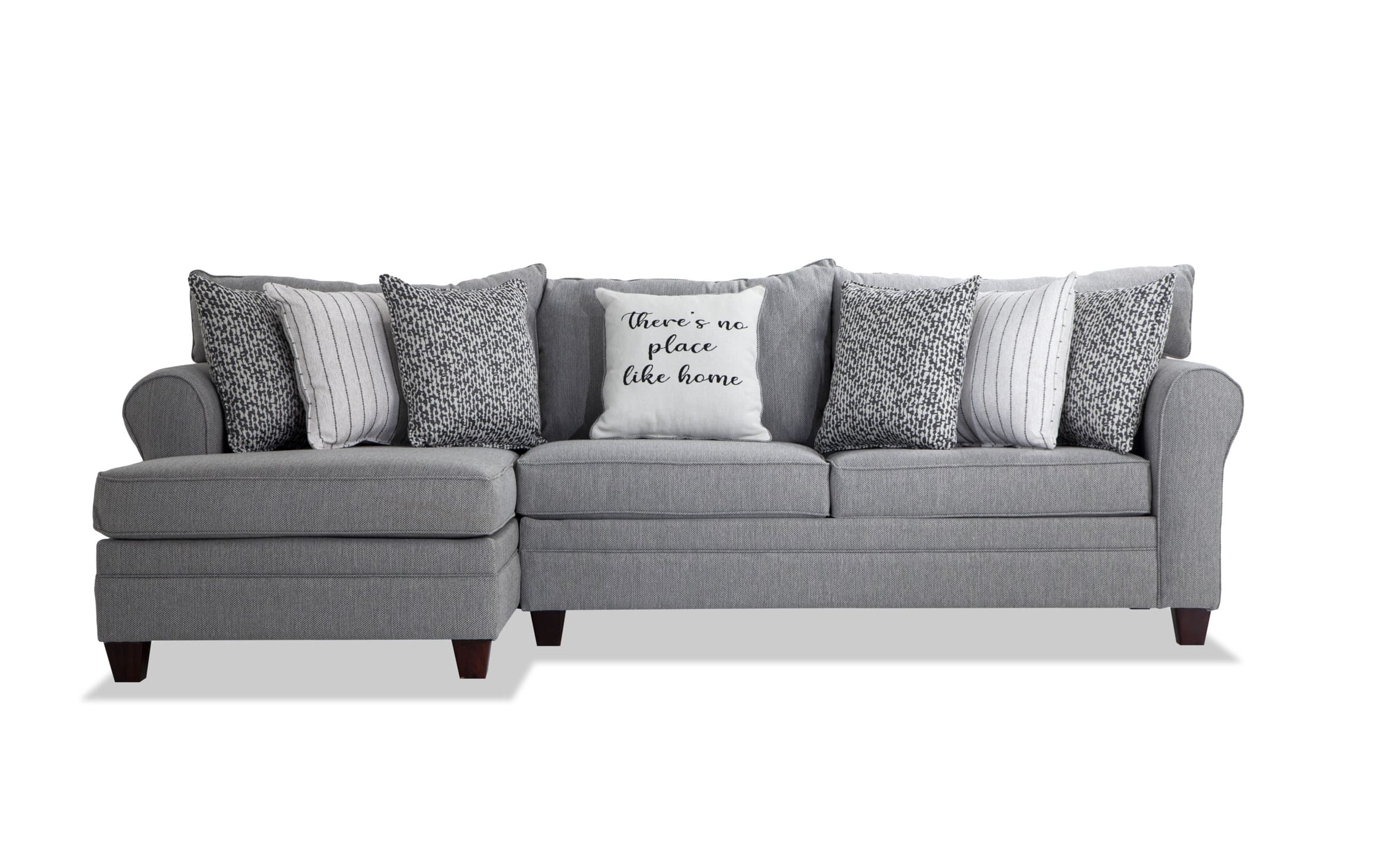 Laurel Gray 10 Piece Right Arm Facing Sectional