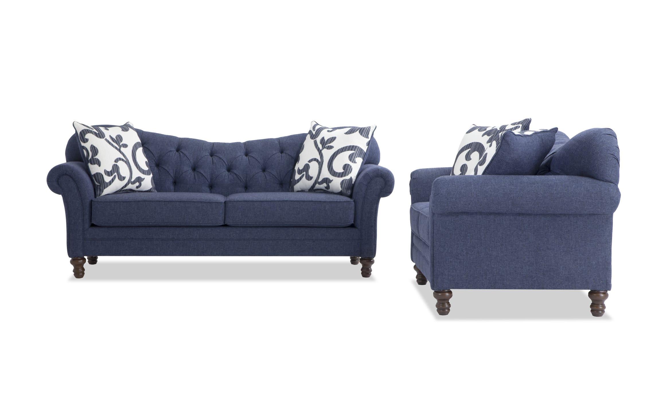 Scarlett Blue Sofa Loveseat Bob S Discount Furniture