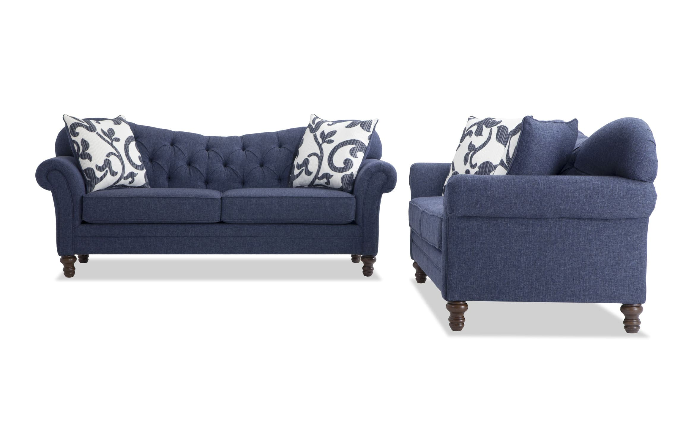 Picture of: Scarlett Blue Sofa Set Bobs Com