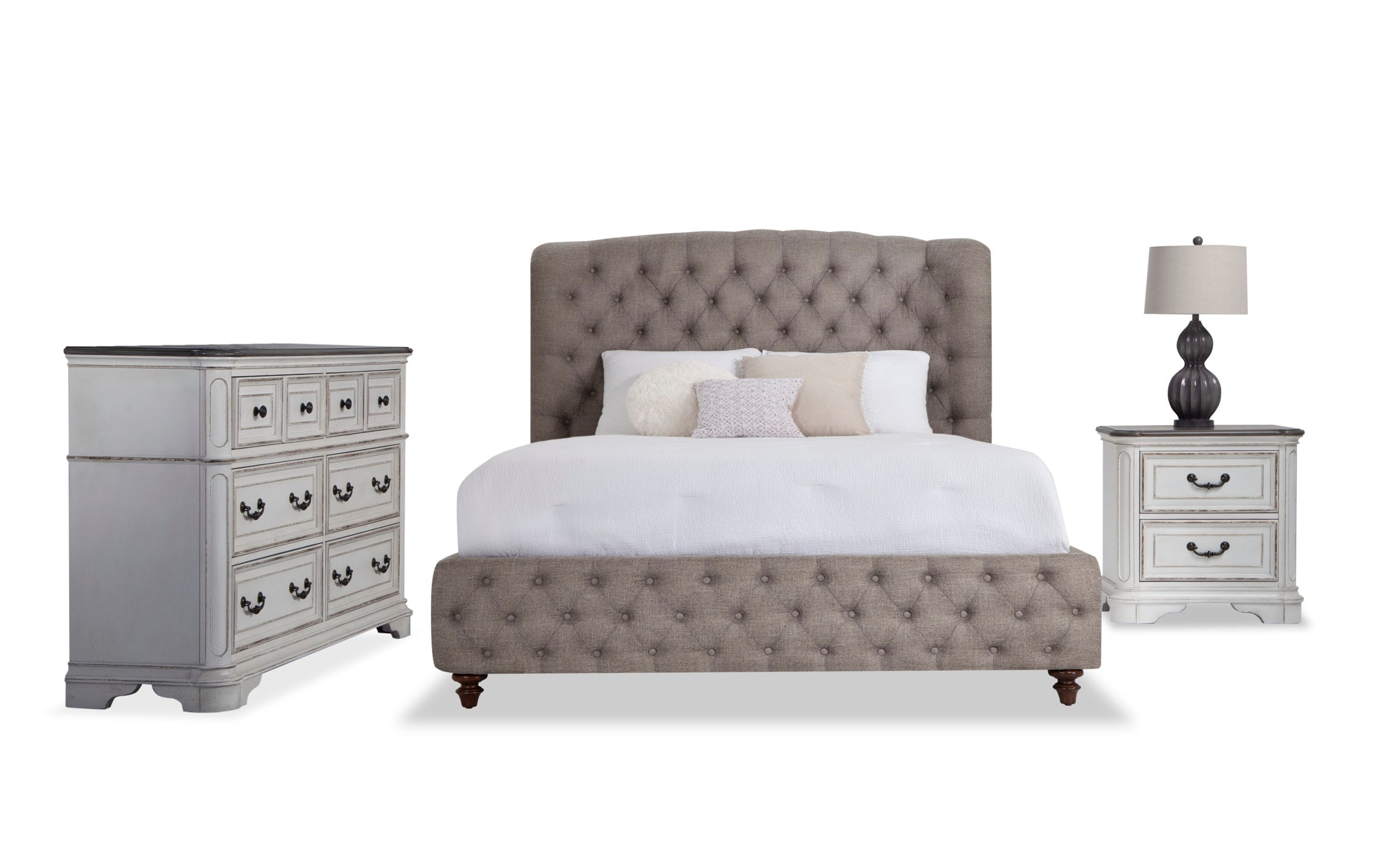 Scarlett Upholstered Queen Bedroom Set Bobs Com