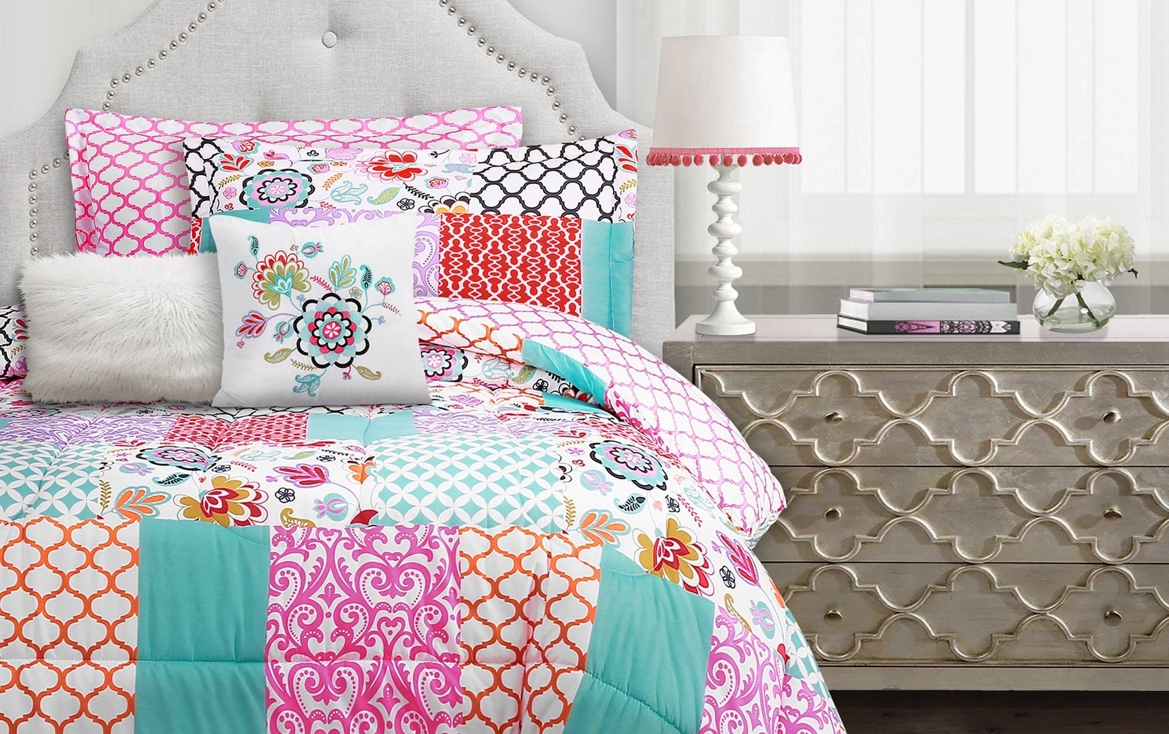 Bohemian Patchwork 5 Piece Twin Comforter Set Bobs Com